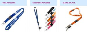 bedrukte keycords