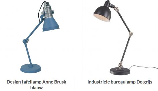 stoere Industriële tafellampen