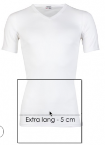 Extra lange witte t shirts